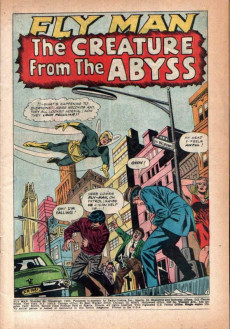 Extrait de Fly Man (Archie comics - 1965) -34- The Creature From the Abyss!