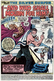 Extrait de Fantasy Masterpieces Vol.2 (Marvel comics - 1979) -5- And Who Shall Mourn for Him?