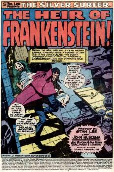 Extrait de Fantasy Masterpieces Vol.2 (Marvel comics - 1979) -7- Heir of Frankenstein!