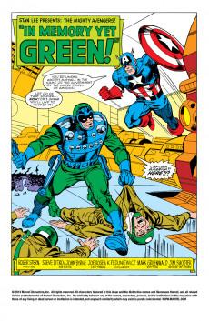 Extrait de Avengers Vol. 1 (Marvel Comics - 1963) -AN13- In Memory Yet Green!