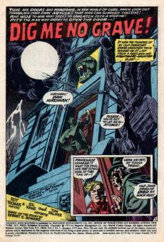 Extrait de Journey into Mystery Vol. 2 (Marvel - 1972) -1- Dig Me No Grave!