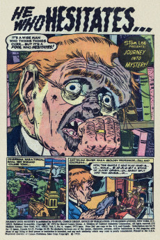 Extrait de Journey into Mystery Vol. 2 (Marvel - 1972) -6- What Was the Sinister Secret of Mister Whimple?