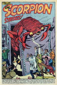 Extrait de Journey into Mystery Vol. 2 (Marvel - 1972) -7- The Scorpion Strikes!