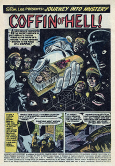 Extrait de Journey into Mystery Vol. 2 (Marvel - 1972) -9- The Coffin of Hell
