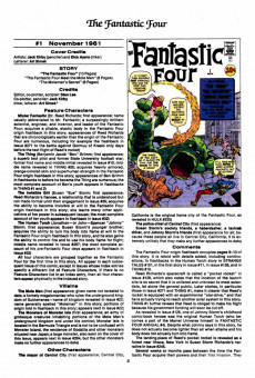 Extrait de Official Marvel Index to the Fantastic Four (The) (Marvel comics - 1985) -1- Issue # 1