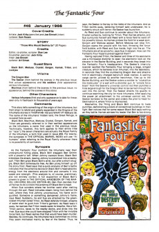 Extrait de Official Marvel Index to the Fantastic Four (The) (Marvel comics - 1985) -4- Issue # 4