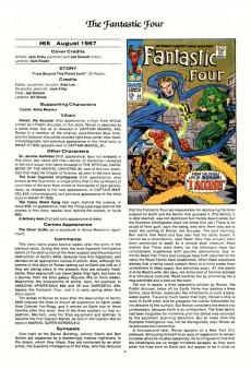 Extrait de Official Marvel Index to the Fantastic Four (The) (Marvel comics - 1985) -5- Issue # 5