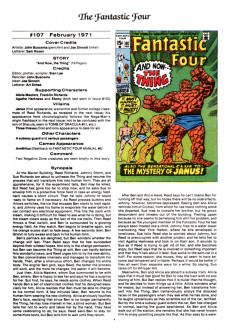Extrait de Official Marvel Index to the Fantastic Four (The) (Marvel comics - 1985) -7- Issue # 7