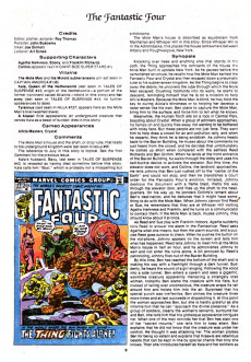 Extrait de Official Marvel Index to the Fantastic Four (The) (Marvel comics - 1985) -8- Issue # 8