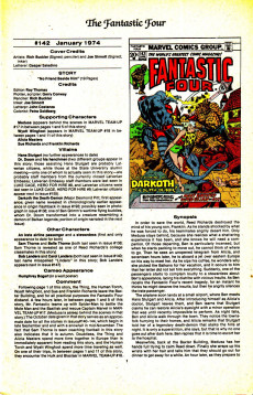 Extrait de Official Marvel Index to the Fantastic Four (The) (Marvel comics - 1985) -9- Issue # 9