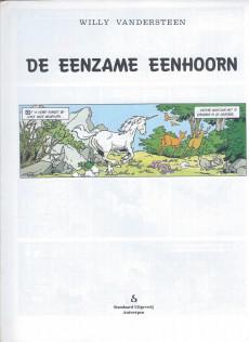 Extrait de Suske en Wiske -213- DE ENZAME EENHOORN