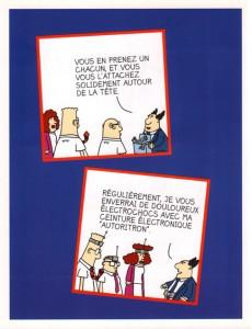 Extrait de Dilbert (Vents d'Ouest) -2- Full-contact au bureau