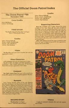 Extrait de Doom Patrol Vol.2 (DC Comics - 1987) -SP2- Official index 2/2