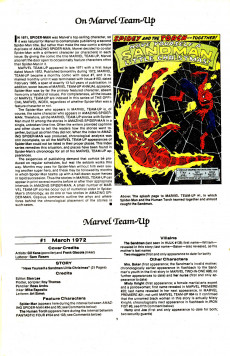 Extrait de The official Marvel index to Marvel Team-Up (1986) -1- Issue # 1