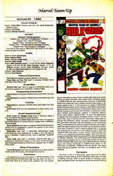 Extrait de The official Marvel index to Marvel Team-Up (1986) -6- Issue # 6