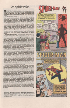 Extrait de The official Marvel Index to Amazing Spider-Man (1985) -1- Issue # 1