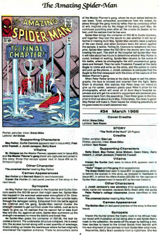 Extrait de The official Marvel Index to Amazing Spider-Man (1985) -2- Issue # 2