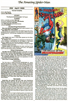 Extrait de The official Marvel Index to Amazing Spider-Man (1985) -3- Issue # 3