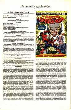 Extrait de The official Marvel Index to Amazing Spider-Man (1985) -6- Issue # 6