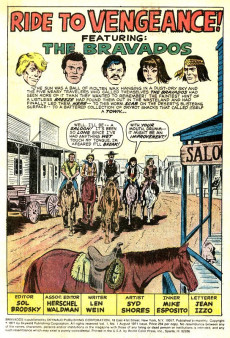 Extrait de Wild Western Action (Skywald Publications - 1971) -HS- The Bravados