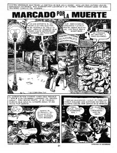 Extrait de Dossier Negro -86- La cosa del pantano