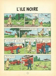 Extrait de Tintin (Historique) -7B36- L'île noire