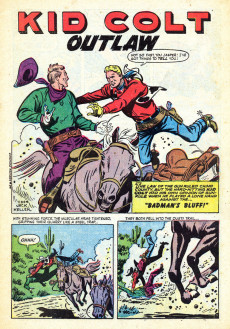 Extrait de Gunsmoke Western (Atlas Comics - 1957) -34- Bad Man's Bluff!/Billy Buckskin Rides Again!