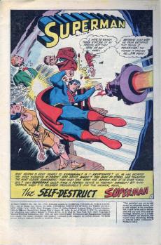 Extrait de Action Comics (DC Comics - 1938) -390- The Self-Destruct Superman!