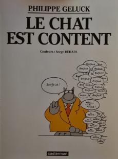 Extrait de Le chat -10a2005- Le Chat est content