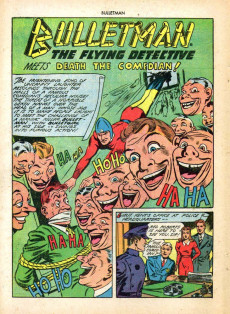 Extrait de Bulletman (Fawcett - 1941) -14- Bulletman Meets Death the Comedian