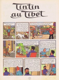 Extrait de Tintin (Historique) -20B29- Tintin au Tibet