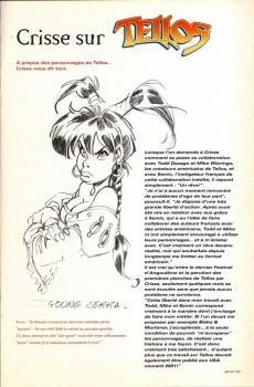 Extrait de Tellos (Semic Comics) - Crisse - Sketch Book - The Art of Tellos