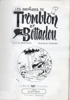 Extrait de Tromblon et Bottaclou - Les aventures de Tromblon et Bottaclou