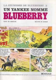 Extrait de Blueberry (La Jeunesse de) -2c1995- Un yankee nommé Blueberry