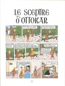 Extrait de Tintin (Fac-similé couleurs) -8- Le sceptre d'Ottokar