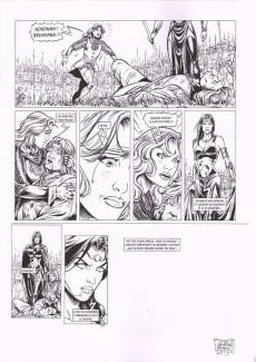 Extrait de Merlin (Istin/Lambert) -7a- Le chaudron de Bran-le-Béni (N&B brochée)