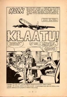 Extrait de Hulk (1re Série - Arédit - Flash) -7- Klaatu !