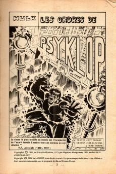 Extrait de Hulk (1re Série - Arédit - Flash) -8- Les ordres de Psyklop
