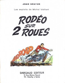Extrait de Michel Vaillant -20Pub- Rodéo sur 2 roues