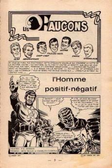 Extrait de Faucon Noir (Arédit - Publication Flash) -2- L'homme positif-négatif