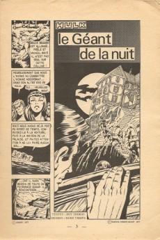Extrait de Hulk (1re Série - Arédit - Flash) -2- Le géant de la nuit