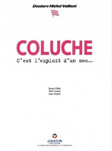 Extrait de Michel Vaillant (Dossiers) -5- Coluche - C'est l'exploit d'un mec...