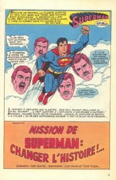Extrait de Superman (Poche) (Sagédition) -68- Mission de Superman: changer l'histoire!...