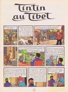 Extrait de Tintin (Historique) -20B35- Tintin au Tibet