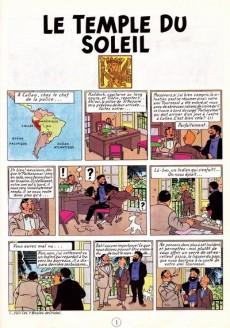 Extrait de Tintin (Historique) -14C3ter- Le temple du soleil