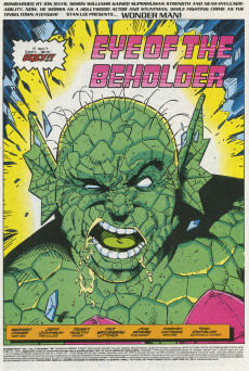 Extrait de Wonder Man (Marvel Comics - 1991) -3- Eye of the Beholder