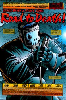 Extrait de Punisher War Journal Vol.1 (Marvel comics - 1988) -71- Final entry part 1 : road to death