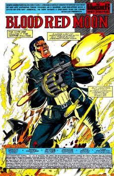 Extrait de Punisher War Journal Vol.1 (Marvel comics - 1988) -58- Blood red moon