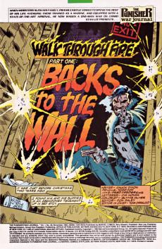 Extrait de Punisher War Journal Vol.1 (Marvel comics - 1988) -48- Walk through fire part 1 : backs to the wall