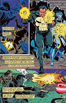 Extrait de Punisher War Journal Vol.1 (Marvel comics - 1988) -46- Dead man's hand part 6 : hot chrome and cold blood